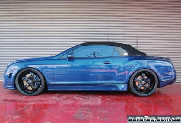 синий хром Bentley Continental