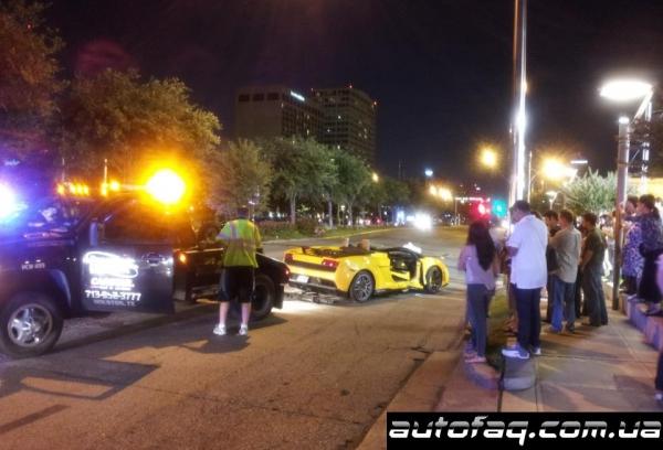 Lamborghini LP570-4 Spyder Performante разбили
