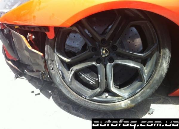 разбили Lamborghini Aventador в Дубаи
