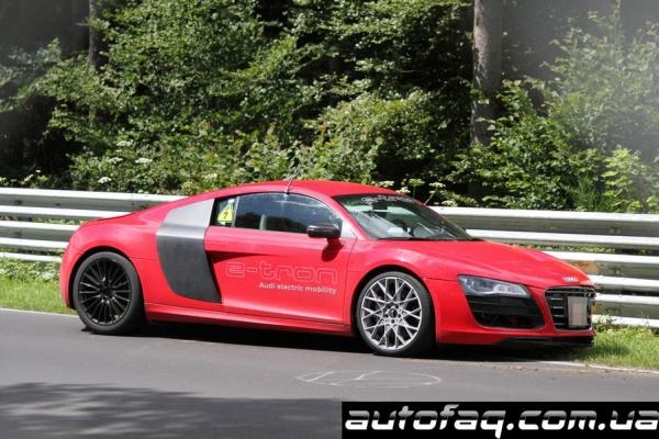 Разбили Audi R8 E-tron