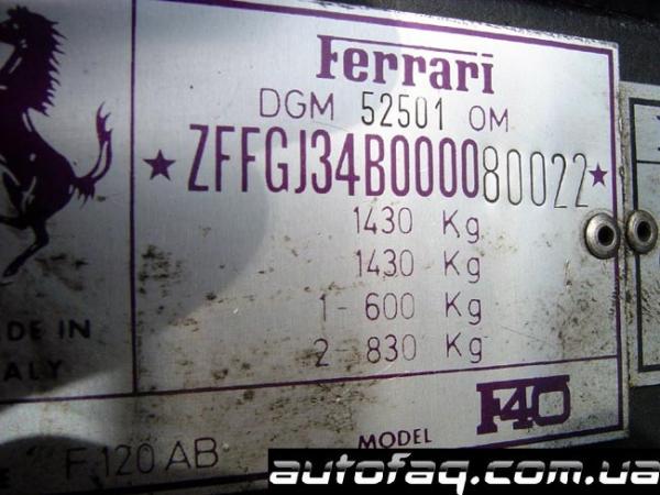 Ferrari F40 Найджела Мэнселла