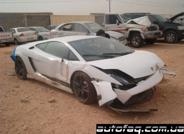 разбили Lamborghini Gallardo LP570-4 Superleggera