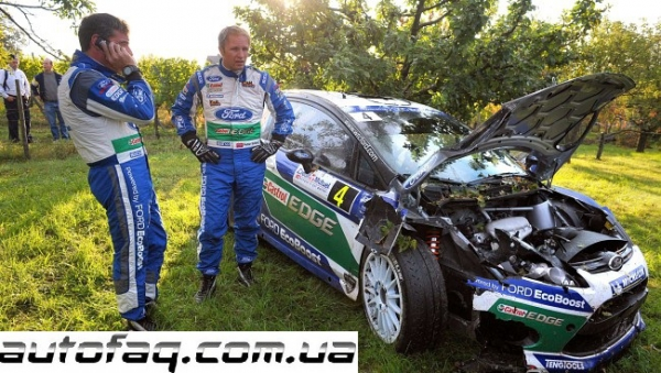 Peter Solberg crash WRC 2012 France