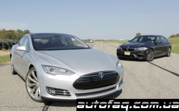 Tesla Model S vs BMW M5 F10
