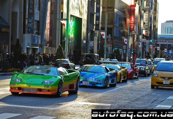 Японский клуб тюнингованных Lamborghini