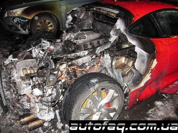 пожар Ferrari F430