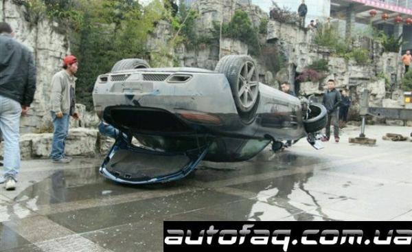 авария Mercedes-Benz SLS AMG