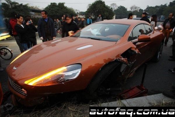 разбили Aston Martin Rapide