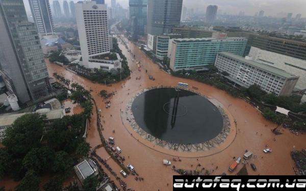 наводнение Джакарта