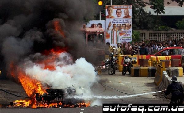 пожар Audi R8