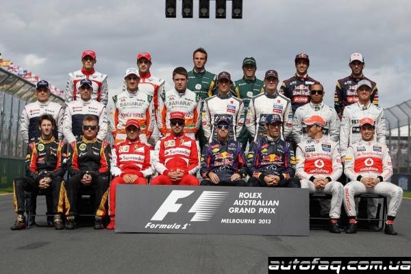 Состав пилотов Формулы 1 на 2013 год