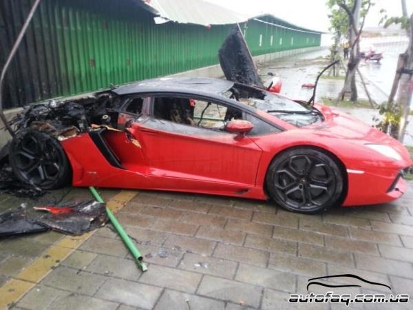 разбили Lamborghini Aventador