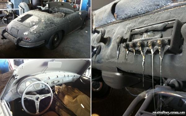 сгорел Porsche 356