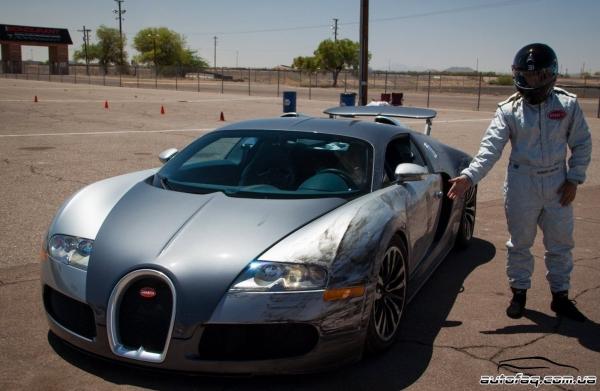 Bugatti Veyron разбил