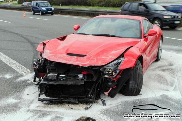 разбили Ferrari F12 Berlinetta