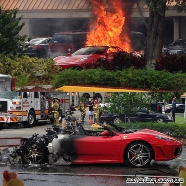сгорела Ferrari F430