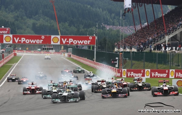 Гран при Бельгии результаты гонки