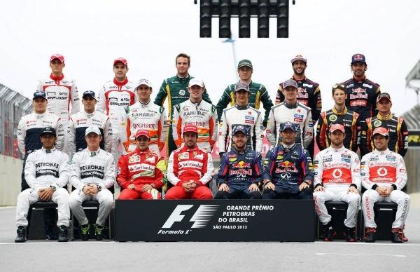 пилоты Формулы-1 сезон 2013