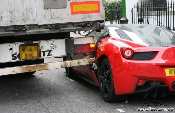 разбили Ferrari 458 Italia