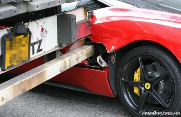 Ferrari 458 Italia авария