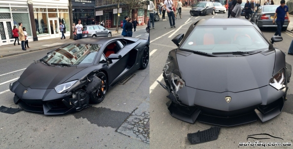 авария Lamborghini Aventador