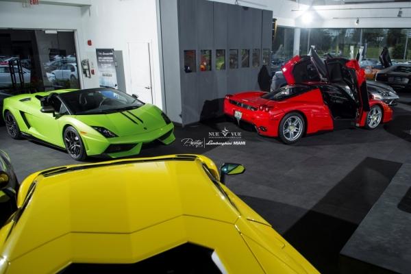 Ferrari Enzo vs Lamborghini Gallardo Verde Ithica